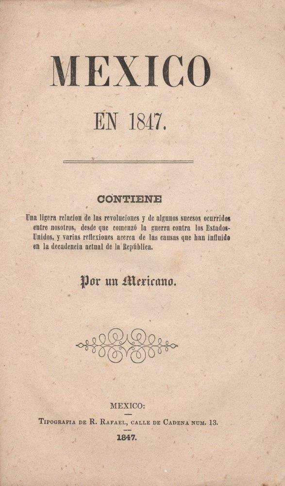 Mexico en 1847.... Mexico, 1847