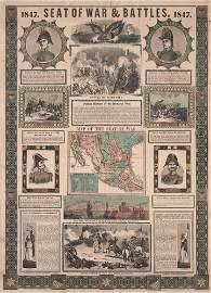 [PRINTS]. ENSIGNS & THAYER. 1847 Seat of War....