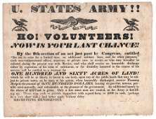 [RECRUITING]. UNITED STATES. ARMY!! 1847?