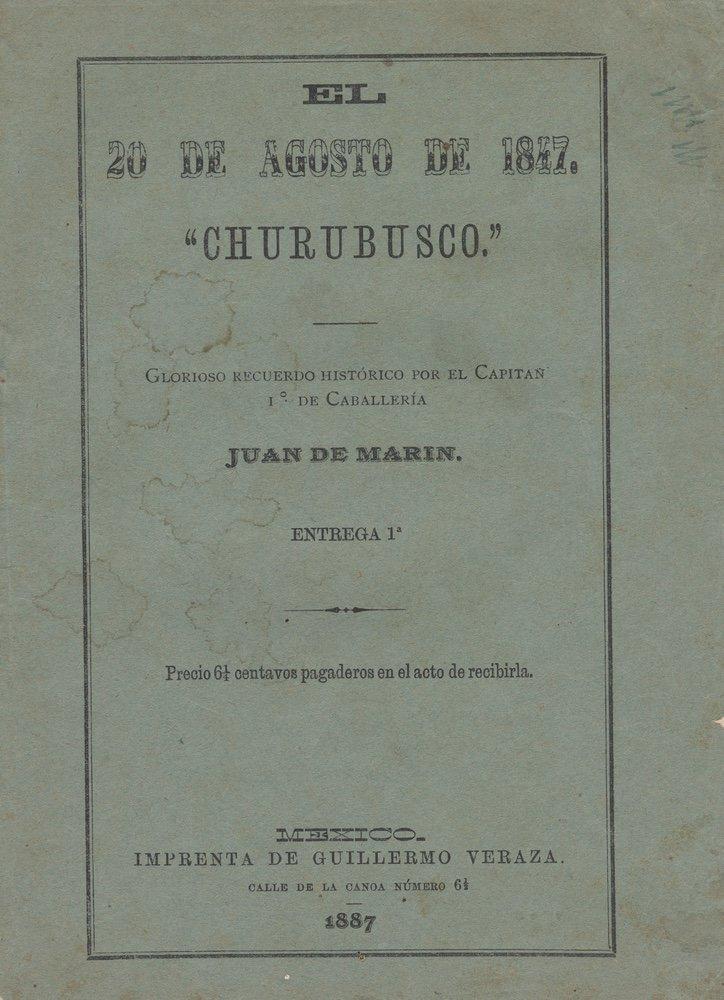 [SAN PATRICIOS]. MARÍN. El 20 de agosto.... 1887