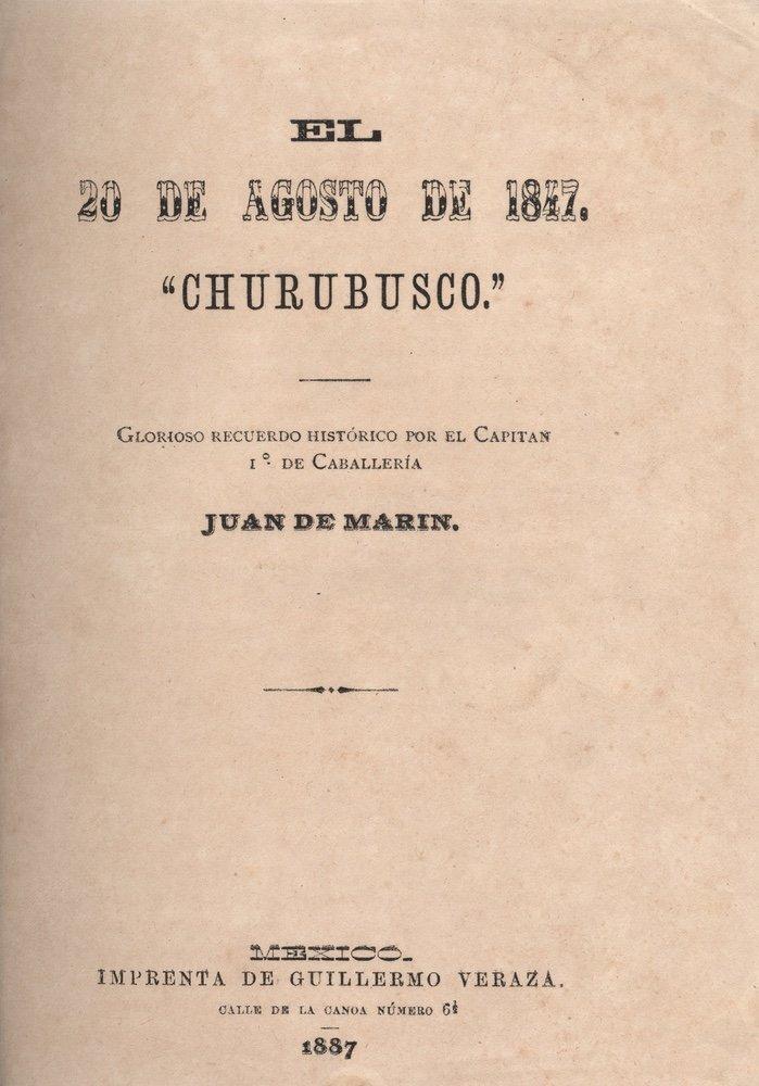[SAN PATRICIOS]. MARÍN. El 20 de agosto.... 1887 - 2