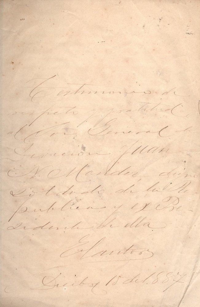[SAN PATRICIOS]. MARÍN. El 20 de agosto.... 1887 - 5