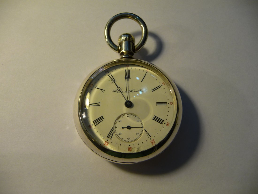 1900's Hampden Sterling Silver 18S Pocketwatch