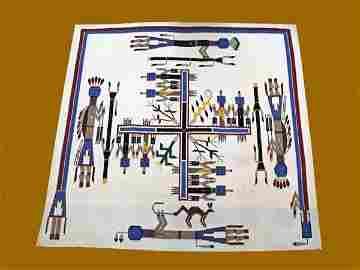 127: INDIAN NAVAJO RUG WEAVING,  SHIPROCK YEI