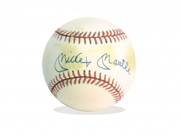 1004: MICKEY MANTLE AUTOGRAPHED BASEBALL