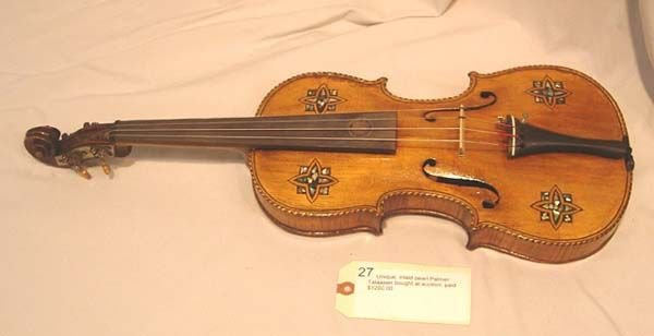 1071: UNLABELED INLAID VIOLIN