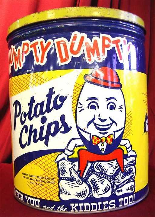 1138 Humpty Dumpty Potato Chips Tin