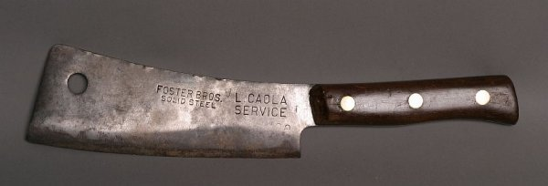 5: Foster Brothers solid steel meat cleaver