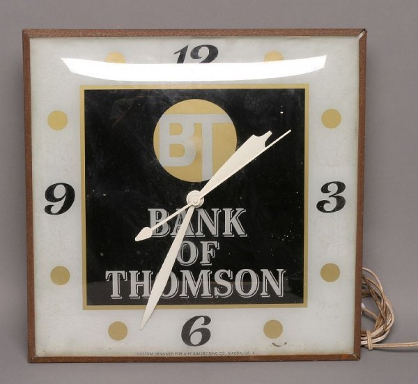 13: Bank of Thomson square bubble clock