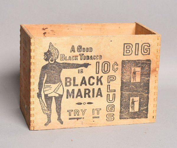 19: Black Maria 10-cent wood tobacco box