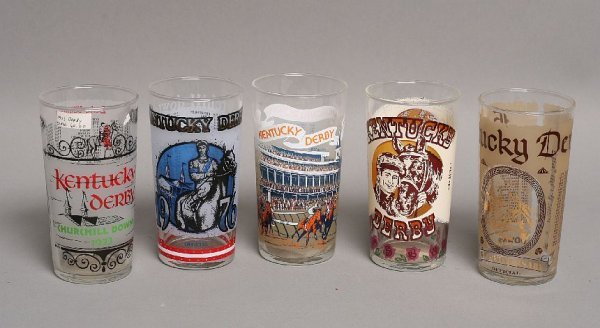 20: Lot of 5, Kentucky Derby glasses