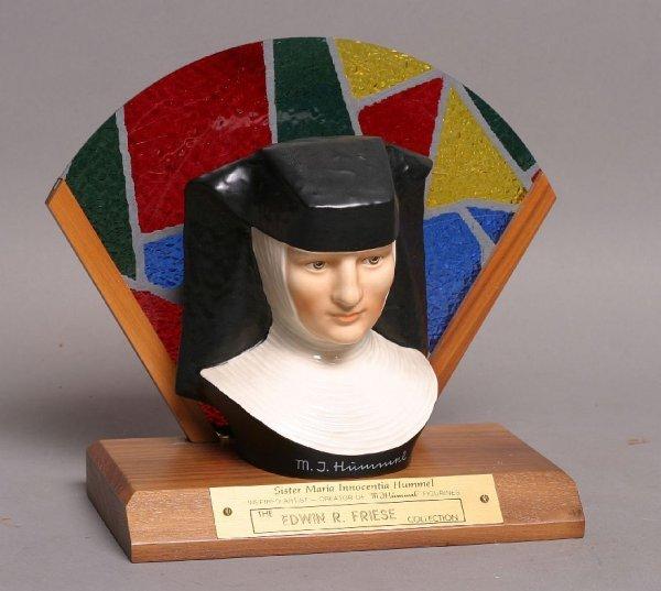 306: Sister Maria Innocentia Hummel bust w/ stand