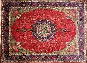 457: Persian rug, 9.8x12.6