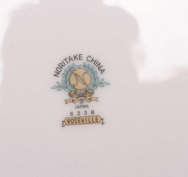 298: Noritake 90-piece Roseville china set - 8