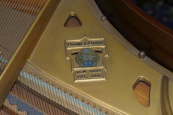 709: Haines Bros baby grand piano, 1933 - 3