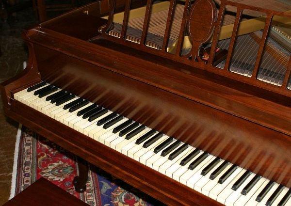 709: Haines Bros baby grand piano, 1933 - 7