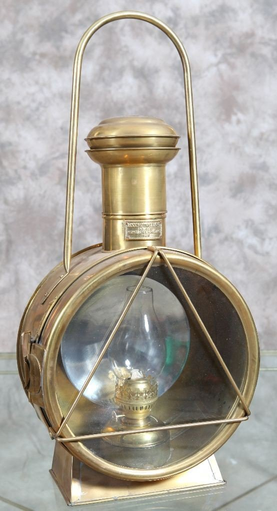 5: Large brass RR lantern decorative quality