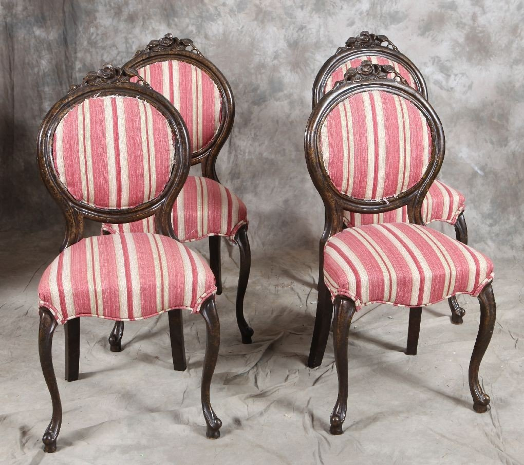8: Lot 4 French style side chairs