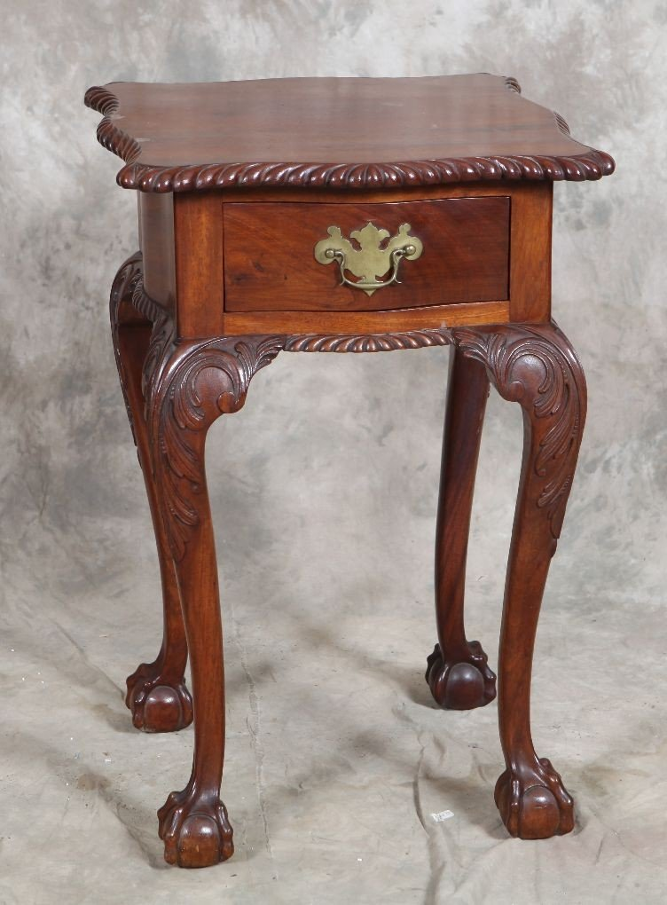 17: 19c c/b footed night stand