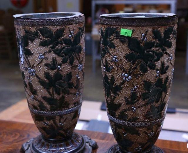 6: Pair of Earthenware Vases