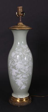 11: Pat sur Pate Vase Mounted as a Lamp