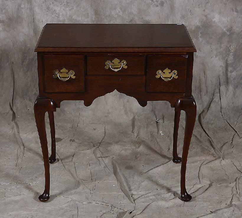 12: Mahogany Queen Anne Style Low Boy