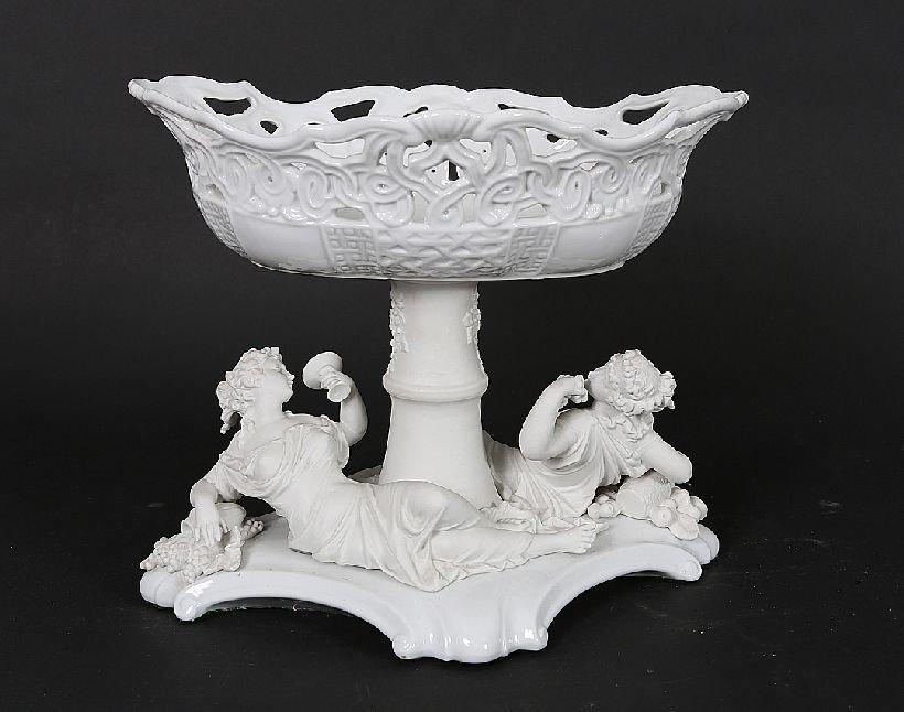 13: Figural Bisque and Porcelain Centerpiece