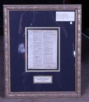 Original King James 1619 Bible Leaf