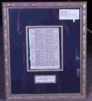 Original Geneva 1582 Bible Leaf