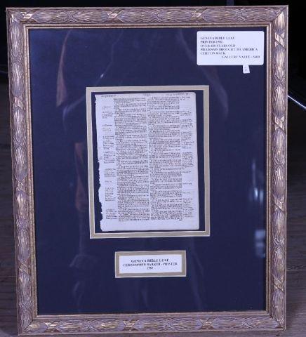 5A: Original Geneva 1582 Bible Leaf