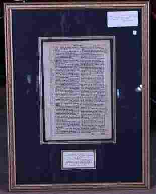 Original Martin Luther 1715 Bible Leaf