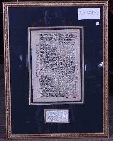 11A: Original Martin Luther 1715 Bible Leaf