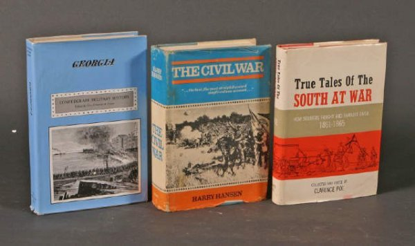 9: Lot of 3 Georgia History and Civil war Books