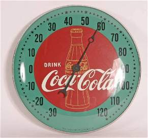"""681: Pam Coke Thermometer New old Stock in Box 12"""" Gold"""