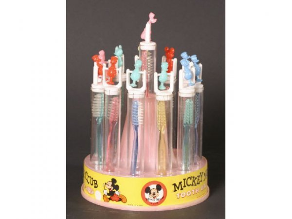 1077: Mickey Mouse Walt Disney early Toothbrush Display