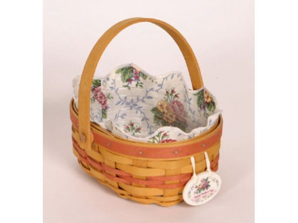 1005: Longaberger Basket Mothers Day 1999 7 1/2iun Tall