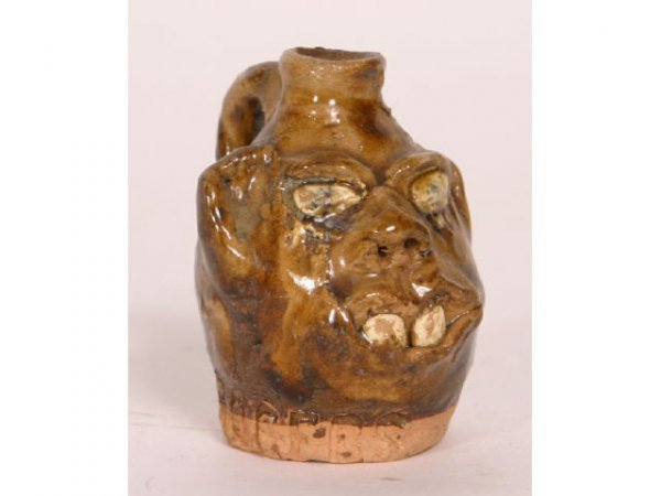 1011: Marie Rogers Mini Face Jug 2 1/2in tall from loca