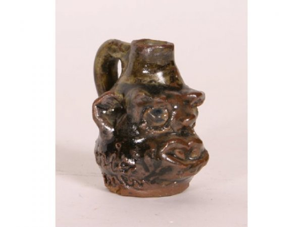 1012: Marie Rogers Mini Face Jug 2 1/2in tall from loca