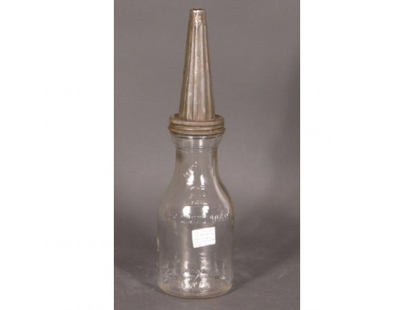 1022: Duraglas Oil Bottle w/ Dover Spout