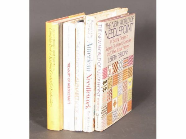 1024: Lot 5 books on Needlework