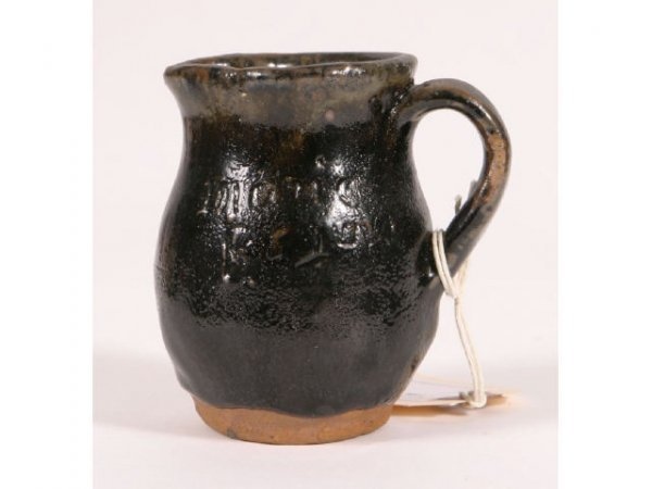 18: Marie Rogers miniature pitcher; 3.5inch tall; sign - 3