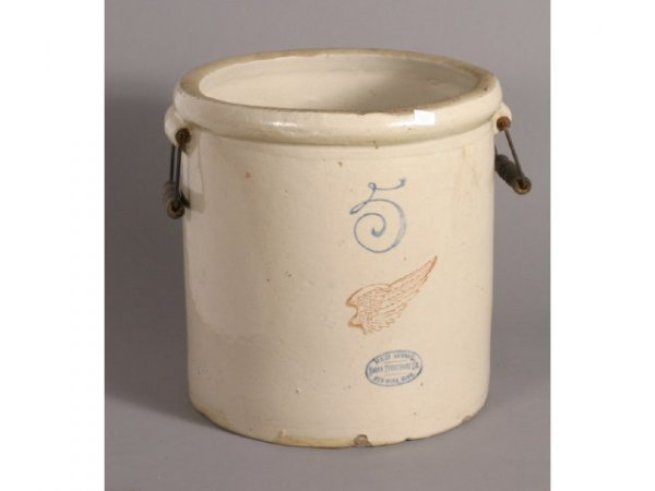 3050: Red wing 5-gallon stoneware crock