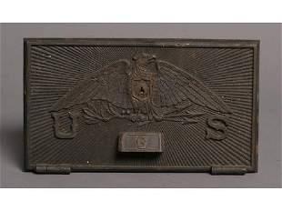 Brass US Eagle post office door - G
