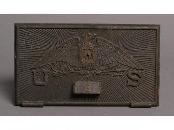5: Brass US Eagle post office door - G
