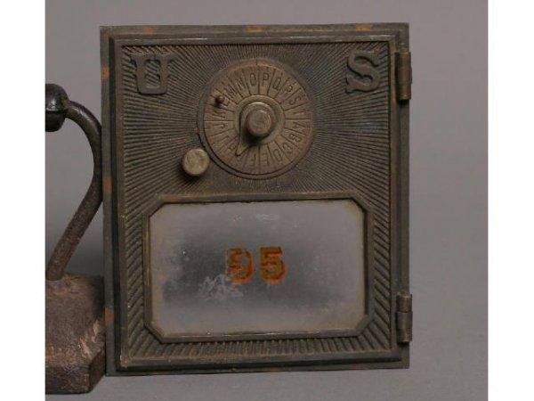 6: Brass post office door - US; 5.5W x 6.5T