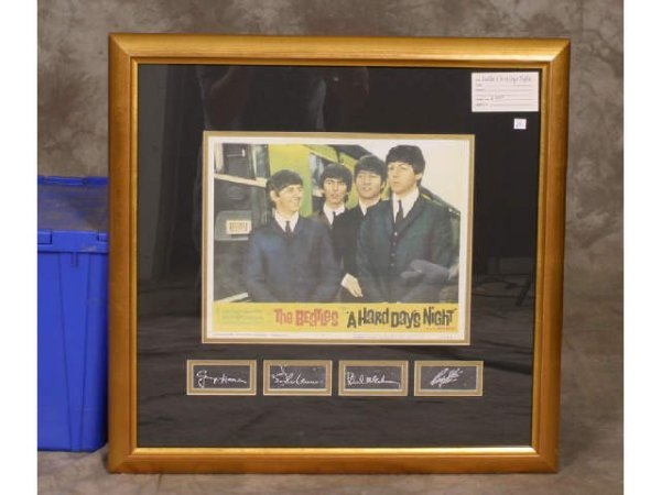 7: Framed print: Beatles A Hard Day's Night