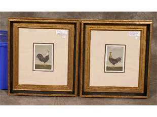 2 - framed prints: Fold Roosters