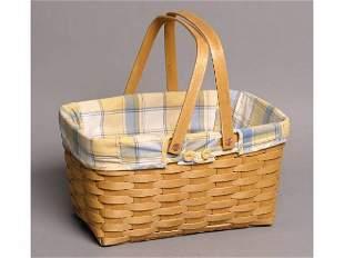 Handled Longaberger basket w/ liner