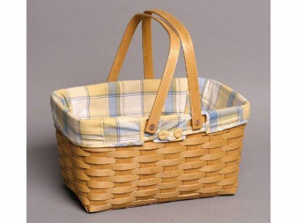 14: Handled Longaberger basket w/ liner