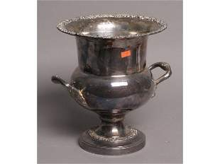 Silver on copper champagne bucket